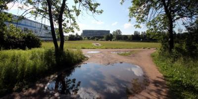Стадион на берегу Ольгинского пруда