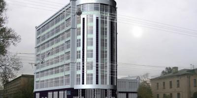 Угол Промышленной и Калинина, проект бизнес-центра