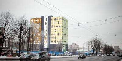 Гостиница, вид с проспекта Стачек
