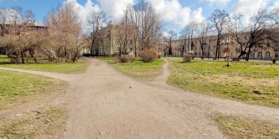 Красное Село, проспект Ленина, сквер, тропинки