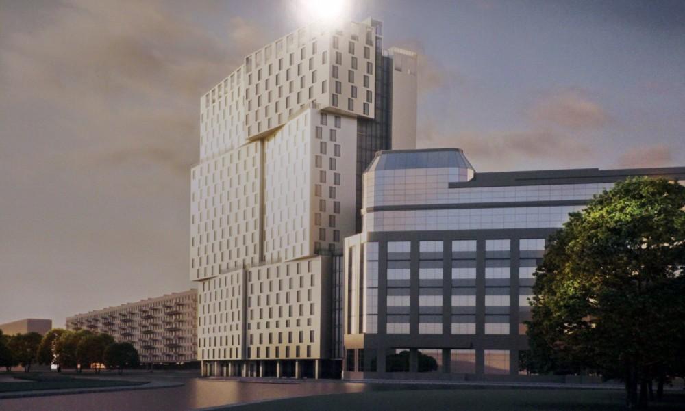 Краснопутиловская улица, гостиница у площади Конституции