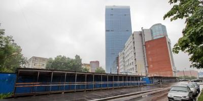 Краснопутиловская улица, стройплощадка