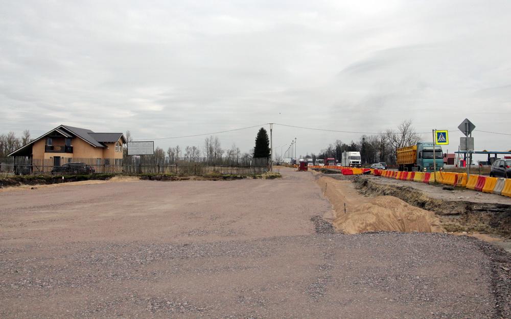 Киевское шоссе, подключение к старой дороге