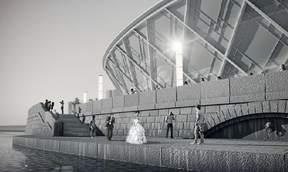 Малоохтинский проспект, дворец бракосочетания, вода