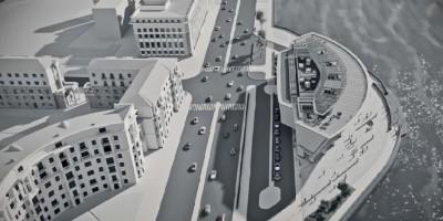 Малоохтинский проспект, дворец бракосочетания, вид сверху