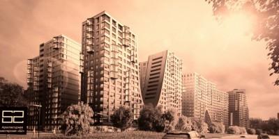 Муринская дорога, жилые дома, арки