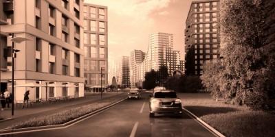 Муринская дорога, жилые дома, дорога