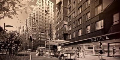 Муринская дорога, жилые дома, магазины