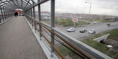 Пулковское шоссе, пешеходный переход, вид