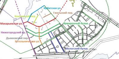 Пулковское, улицы