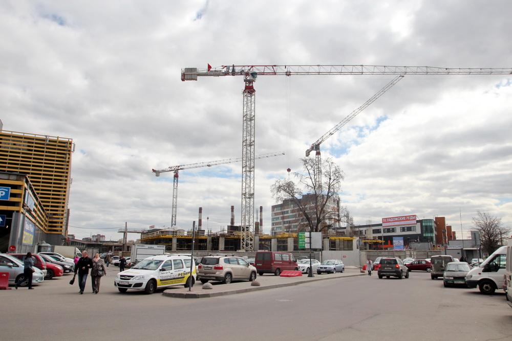 Строительство бизнес-центра у Ладожского вокзала