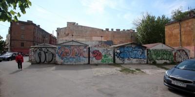 Воронежская улица, гаражи