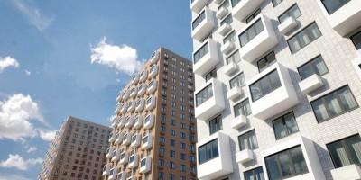 Жилой комплекс на Дальневосточном проспекте, 15, фасады снизу