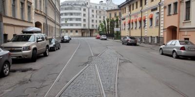Дегтярный переулок, трамвайная стрелка