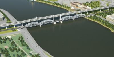 Финляндский железнодорожный мост и Восточный скоростной диаметр