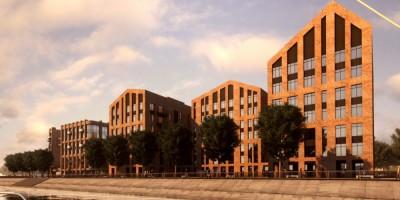 Петровская коса, 7, жилой комплекс, вид с Малой Невы