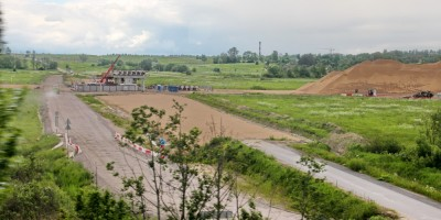 Шушарская дорога, строительство путепровода