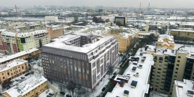Жилой дом на Выборгской улице, 8, вид сверху