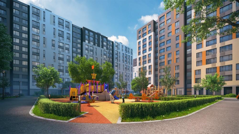 Жилой комплекс на углу улиц Грибалевой и Новолитовской, двор