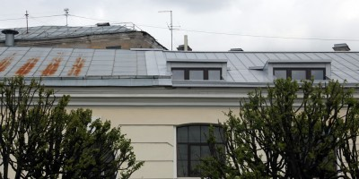 Конюшни Михайловского замка, мансарда, окна