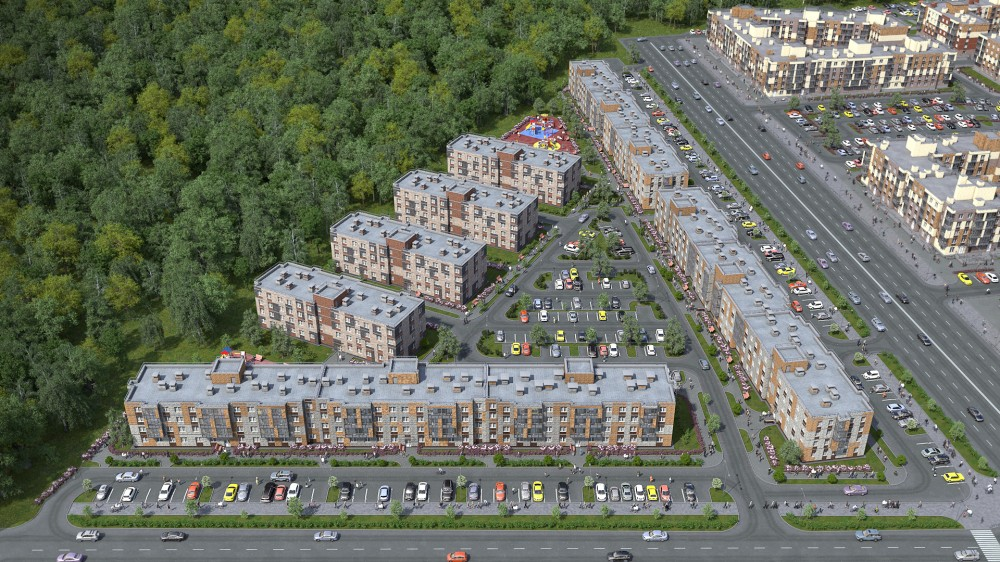 Новый жилой квартал на Юнтоловском проспекте