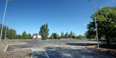 Пушкин, Александровский парк, автостоянка