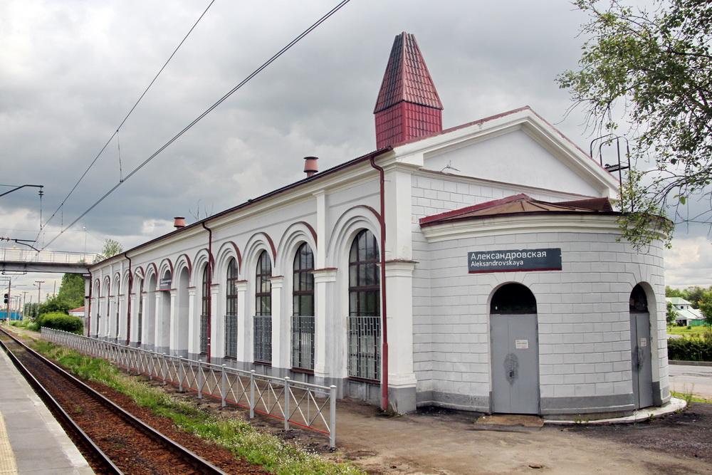 Станция Александровская, вокзал