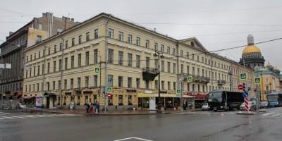 Дом купца Щербакова на углу Гороховой улицы и Адмиралтейского проспекта