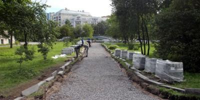 Петровский парк, дорожка
