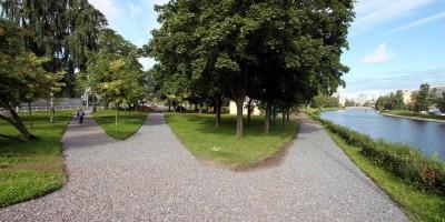 Петровский парк, гравий
