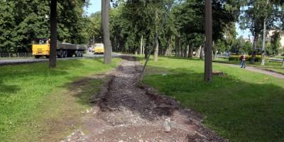 Петровский парк, ремонт дорожек