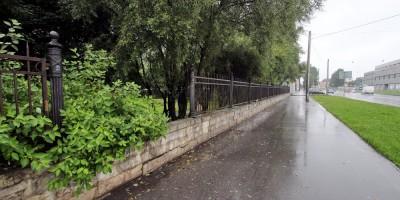 Сад Девятого Января, ограда, утраченный фрагмент