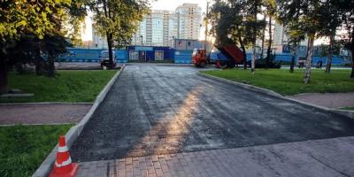 Сквер на Московском проспекте, асфальт