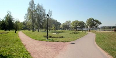 Колпино, парк на Красной улице, дорожки