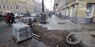 Московский проспект, ремонт тротуаров