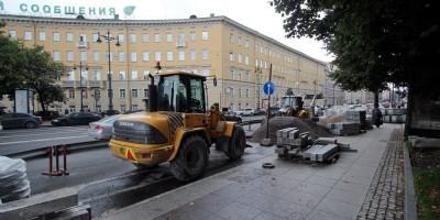 Обуховская площадь, ремонт тротуаров