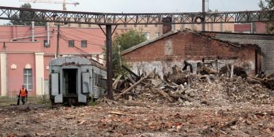 Улица Шкапина после сноса деревянных домов