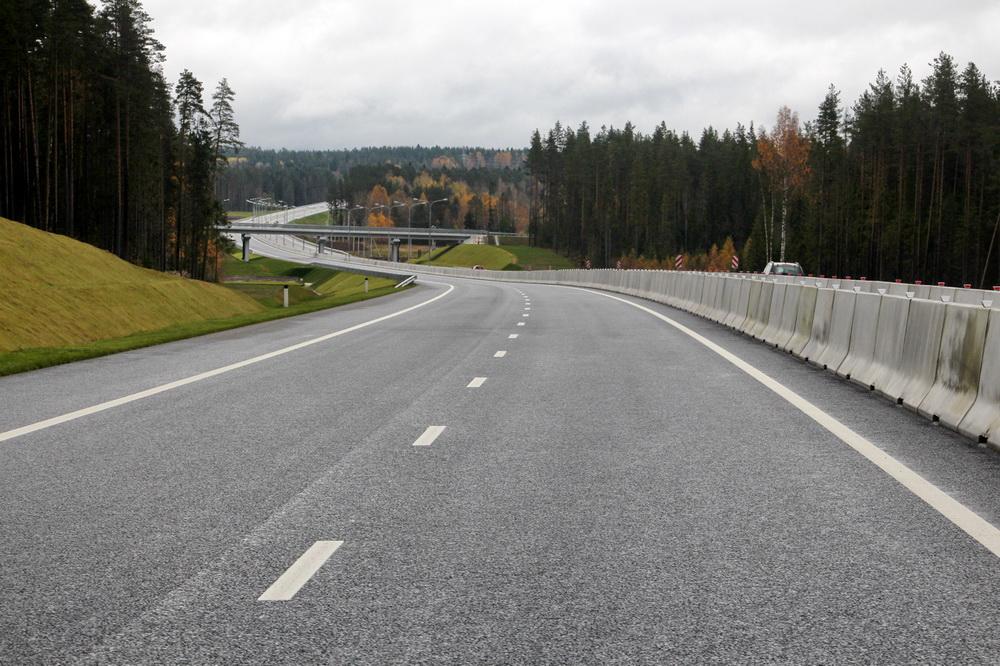 Автодорога Сортавала, новый участок, повороты