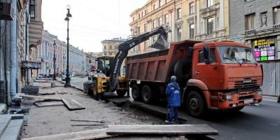 Большая Морская улица, реконструкция тротуаров