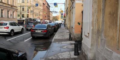 Гороховая улица, тротуар