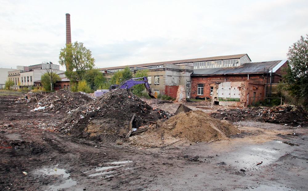 Малярная мастерская Варшавского вокзала после сноса