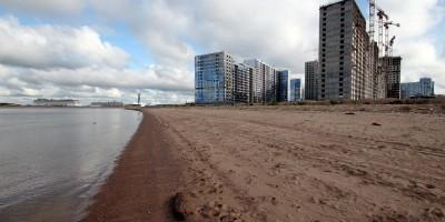 Намывной пляж Финского залива