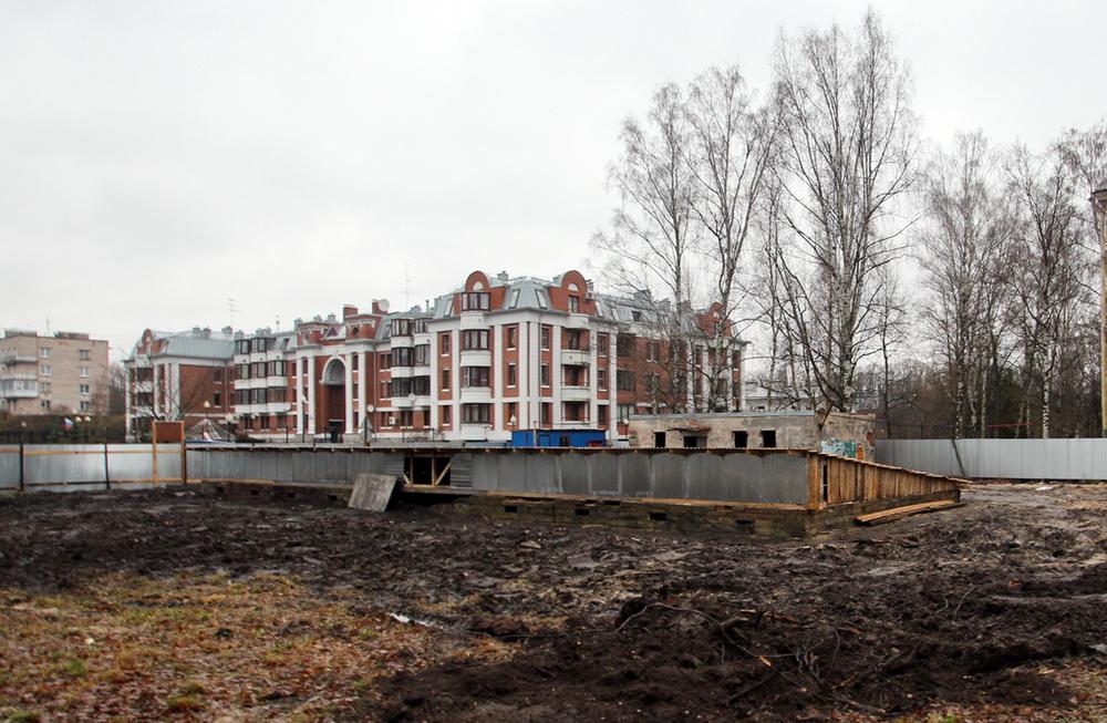 Дом Фридентальской колонии в Пушкине после сноса