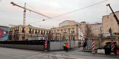 Дом Мордвиновых после сноса
