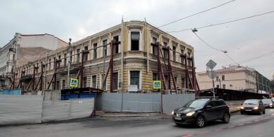 Дом Мордвиновых после сноса, угол