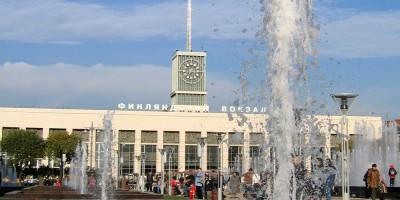 Финляндский вокзал, фонтан