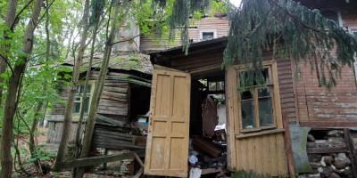Репино, Приморское шоссе, дом 394, корпус 6, дача Ридингер, после обрушения