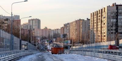 Поклонногорский путепровод и Вербная улица