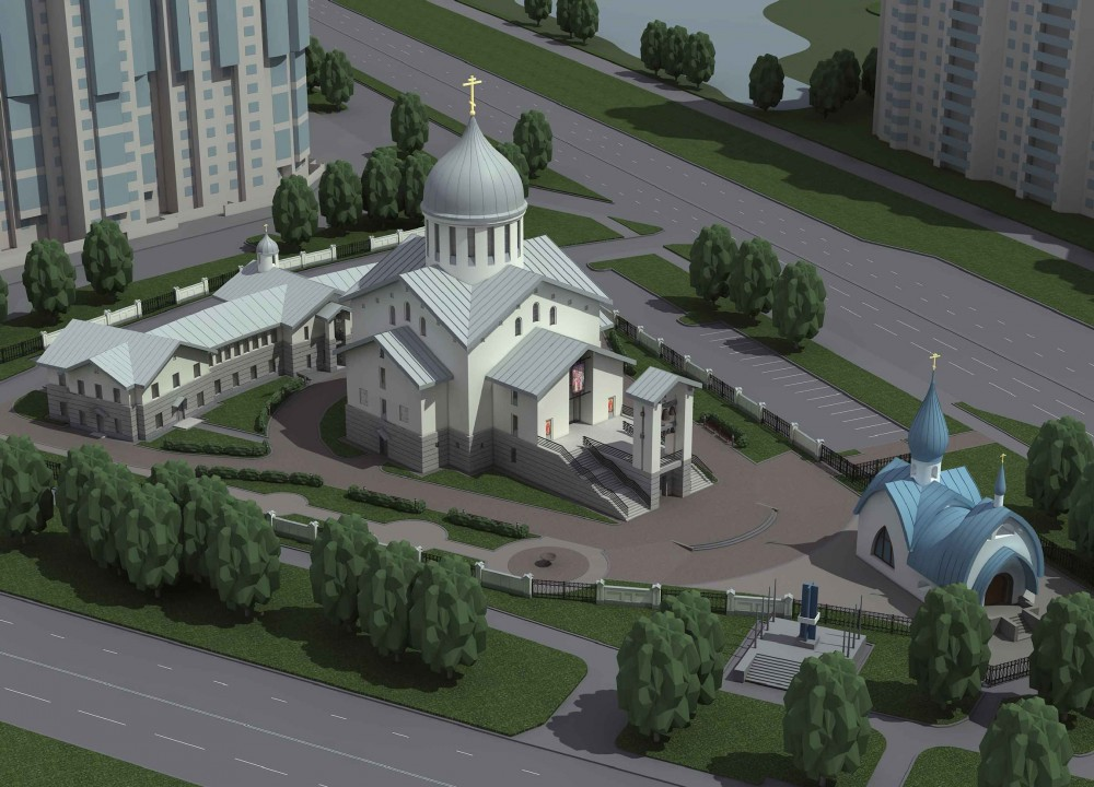 Проект храмового комплекса на Кронштадтской площади