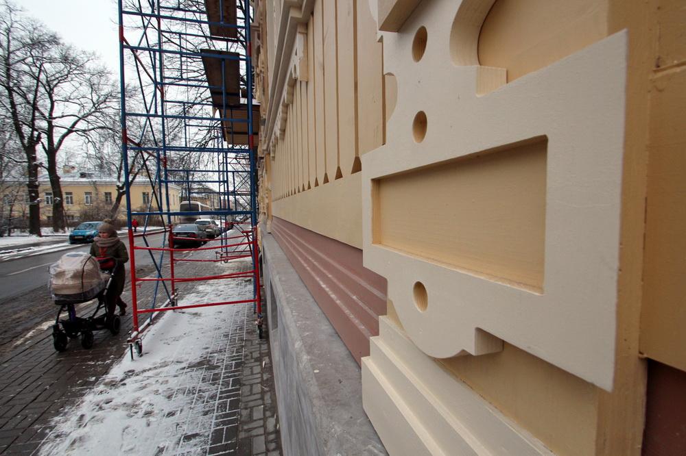 Пушкин, Церковная улица, 7, отделка